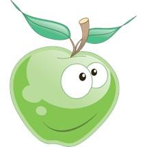 Stickers murali bambini cameretta frutta e verdura leostickers - Camerette verde mela ...